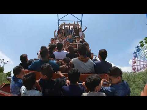 Yemeni children enjoy carnival rides in celebration of Eid al-Adha