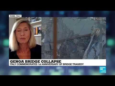 France 24's Josephine McKenna speaks about Genoa bridge collapse one year on