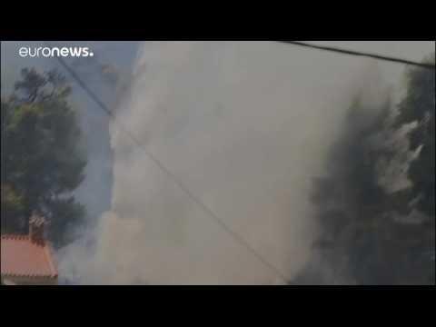 EU sends help to Greece as firefighters battle wildfire near Athens