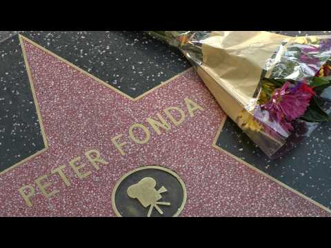 Peter Fonda fans pay tribute to the late actor in Hollywood