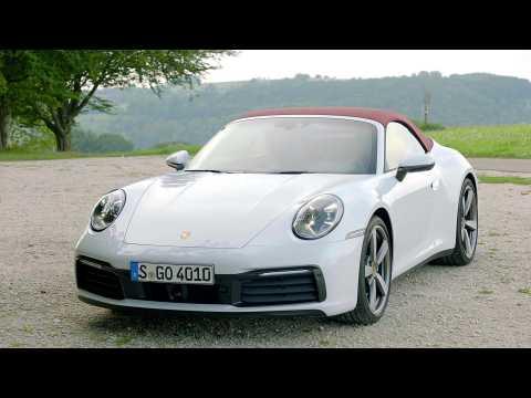 Porsche 911 Cabriolet Design in Carrara White Metallic
