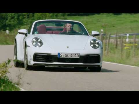 Porsche 911 Cabriolet in Carrara White Metallic Driving Video