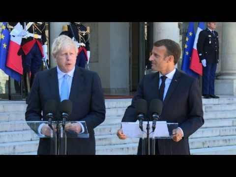 Brexit: Johnson says 'wants deal', 'encouraged' by Merkel talks