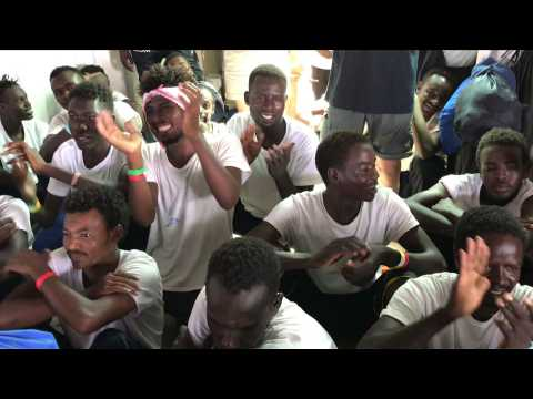 Explosion of joy aboard the Ocean Viking