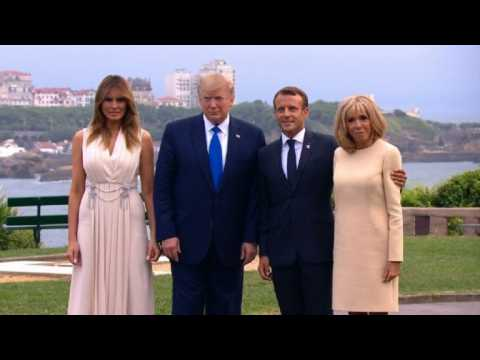 G7 summit: Macron welcomes Trump, Johnson and Merkel