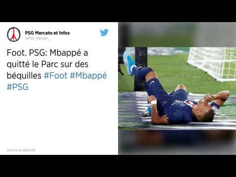 PSG : Kylian Mbappé sort sur blessure, l'hécatombe en attaque à Paris