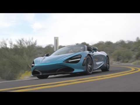 McLaren 720S Spider in Belize Blue Driving Video