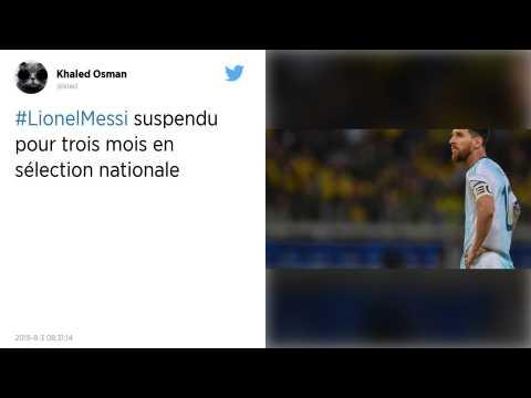 Football : Trois mois de suspension pour Lionel Messi après ses critiques lors de la Copa America