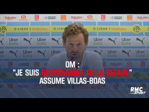 """OM : """"Je suis responsable de la défaite"""" assume Villas-Boas"""