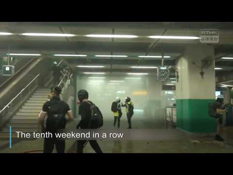 Tenth weekend of Hong Kong protest violence
