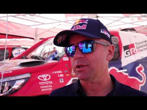 Dakar 2020 - Stage 7 - Interview Giniel de Villiers, TOYOTA GAZOO Racing