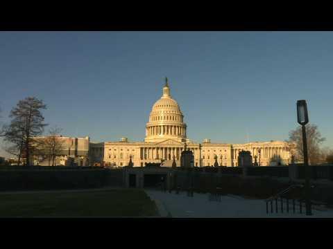 Images of US Capitol ahead of Senate impeachment trial