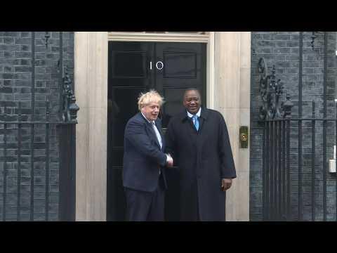 British Prime Minister Boris Johnson meets Kenyan President Uhuru Kenyatta at Downing Street