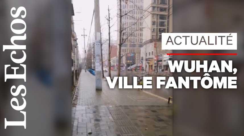 Illustration pour la vidéo A l'intérieur de Wuhan, le silence et la pluie