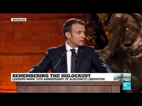 """Macron: """"Anti-semitism is not only a problem of the Jews"""""""