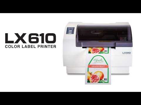 Primera LX610 Color Label Printer - Print and Cut Your Own Product Labels in Any Shape and Any Size