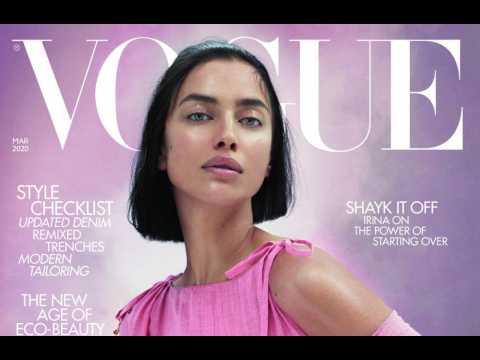 Irina Shayk uses gold face masks to beat dry skin