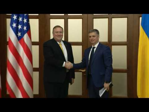 US State secretary Mike Pompeo meets with Ukrainian Foreign Minister Prystaiko