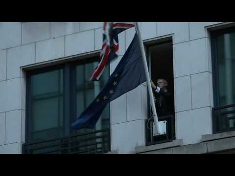 Brexit: EU flag taken down at UK representation to the European Union in Brussels
