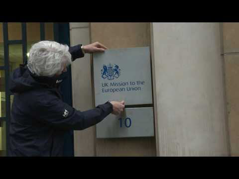 Brexit: UK changes name plate of diplomatic mission in Brussels
