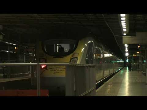 Last pre-Brexit Eurostar train leaves London, bound for Paris