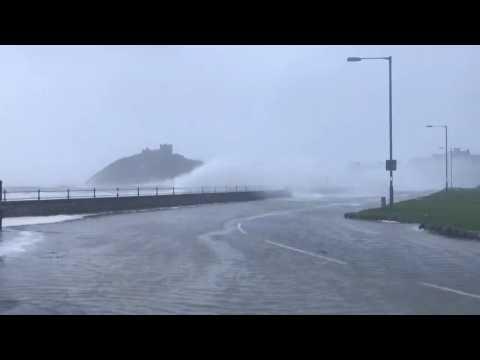 Storm Ciara batters Welsh coast