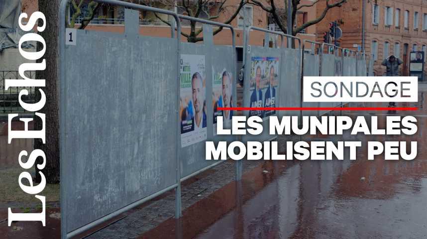 Illustration pour la vidéo Municipales : 62% des Français déclarent avoir l'intention d'aller voter