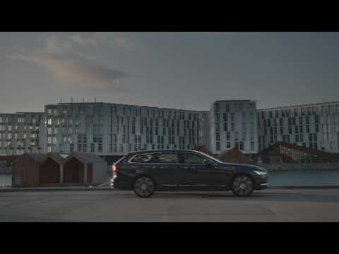 The refreshed Volvo V90 Recharge Driving Video