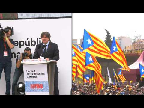 Catalan separatist leader holds mass rally in Perpignan