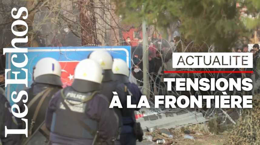 Illustration pour la vidéo La Grèce repousse des milliers de migrants à la frontière turque