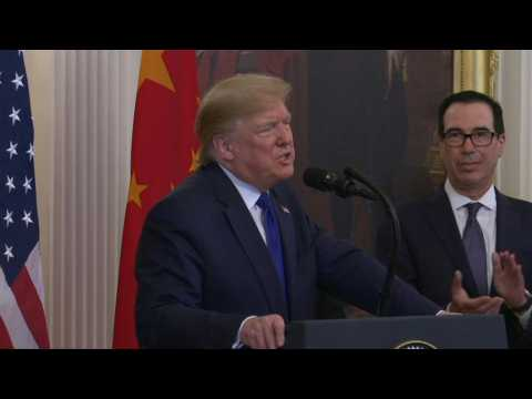 Trump says US-China trade deal contains 'substantial and enforceable'