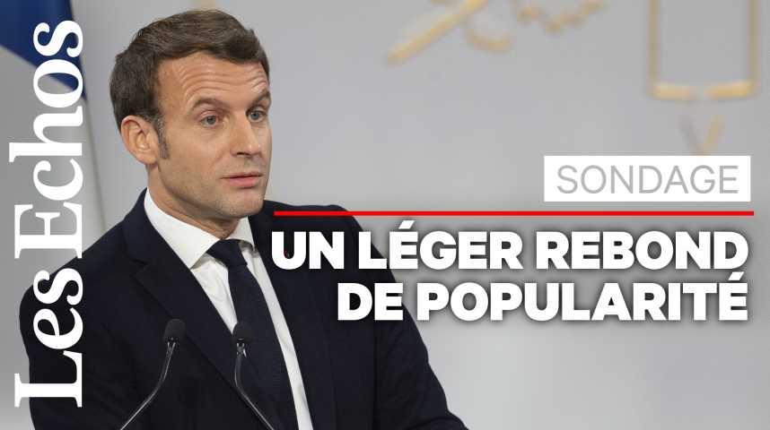 Illustration pour la vidéo Popularité : un rebond fragile pour Emmanuel Macron