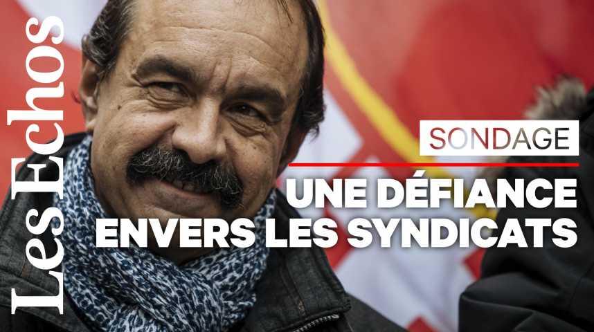 Illustration pour la vidéo 46% Français n'ont pas confiance dans les syndicats