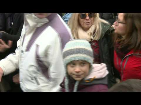 Greta Thunberg joins climate protest in Switzerland
