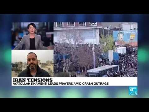 Iran's Supreme Leader leads prayers amid plane crash outrage
