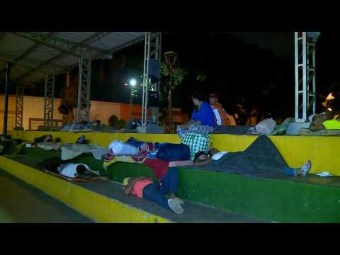 Venezuelans migrants transform Colombia's parks into open-air bedrooms