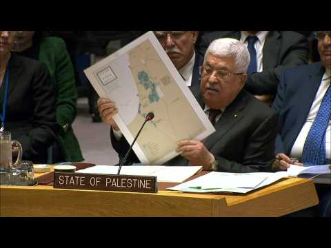 """Palestinian leader warns UN of Trump's """"Swiss cheese"""" peace deal"""