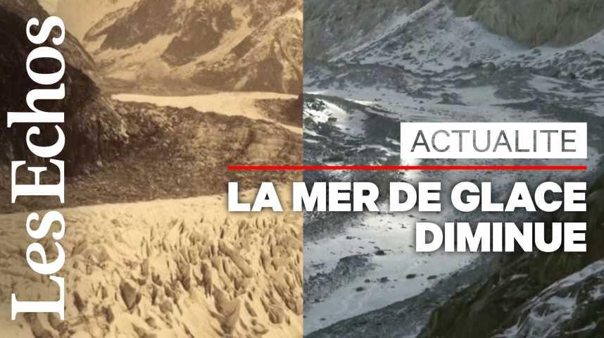 Illustration pour la vidéo La mer de glace, victime très visible du réchauffement climatique