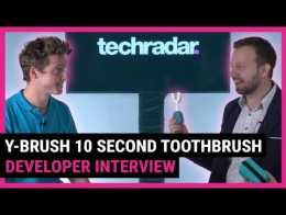 Y Brush can clean your teeth in 10 seconds | TechRadar at CES 2020