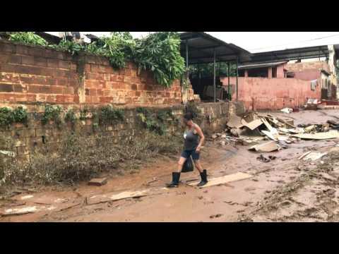 Brazil residents survey damage after floods killed 45