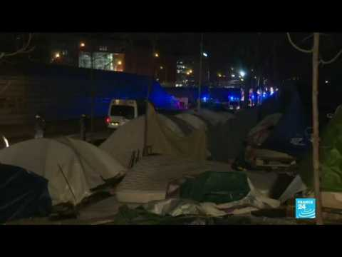 Paris migrant camp cleared: More than 1,400 people taken to state shelter