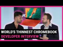 Samsung shows us the world's thinnest Chromebook | TechRadar at CES 2020