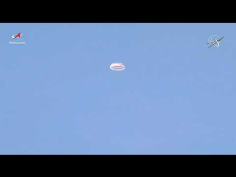 Record breaking US astronaut returns to Earth from ISS