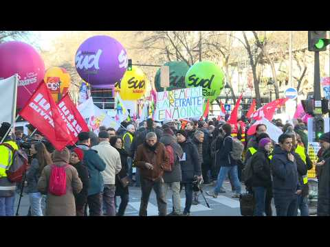 Strikers take to Paris streets as anti-pension reform movement continue