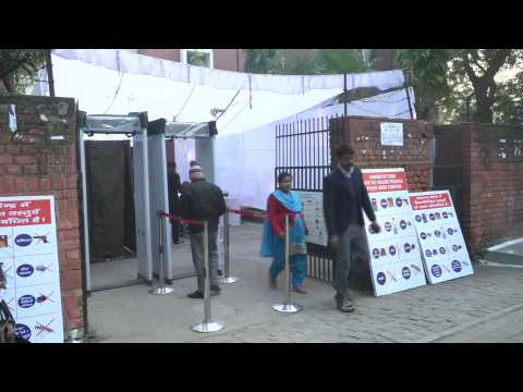 Polling station open for Delhi state election