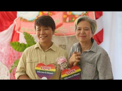 LGBT couples demand equal rights in Thailand