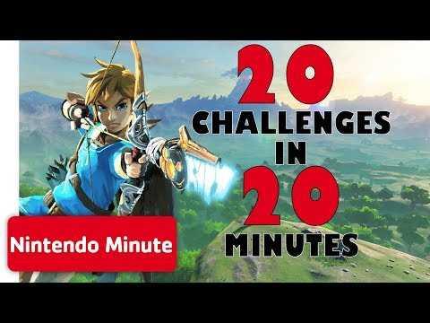 The Legend of Zelda: Breath of the Wild - 20 Challenges in 20 Minutes | Nintendo Minute
