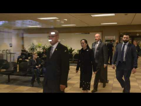 Huawei executive leaves Canadian court after extradition hearing