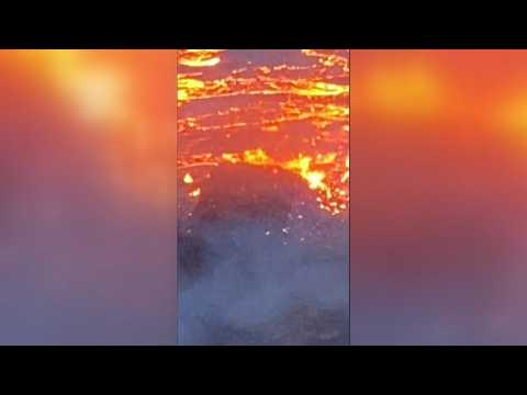 Lava erupts from long-dormant Icelandic volcano