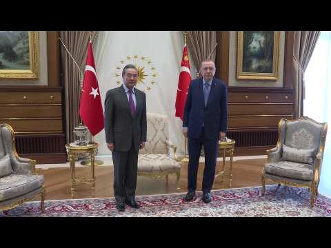 Turkish President Erdogan receives Chinese Foreign Minister Wang Yi in Ankara